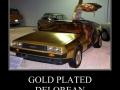Gold plated Delorean