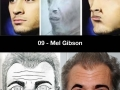 Pics of celebs photoshopped to match fan art sketches