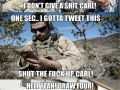 Carl on duty
