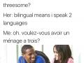 Bilingual? nice..