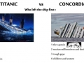 Titanic vs. Concordia