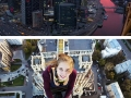 Russian girl does rooftopping and takes the riskiest selfies