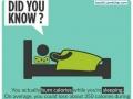 Sleeping burns calories