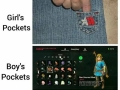 Girls vs boys pockets