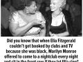 Marilyn Monroe using her privilege for good