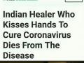 Indian healer dies from coronavirus