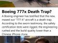 Boeing 777-X death trap