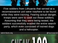 Soldiers from Lithuania