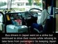 Bus drivers strike in Japan
